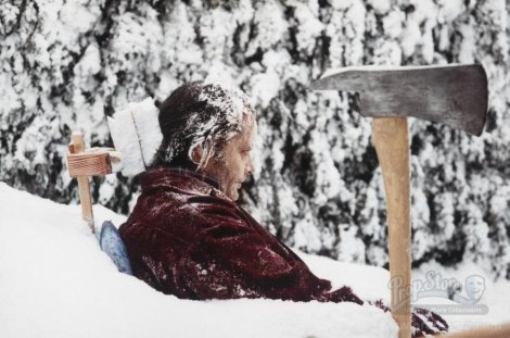 the shining snow scene