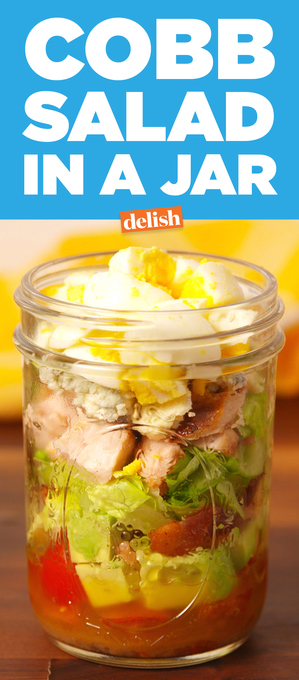 Brain Food - 7 Easy Meals for Hungry Creatives on Drempt.com featuring Cobb Salad in a Jar